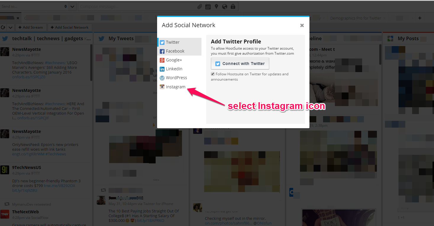 How to add instagram to hootsuite in 5 steps the kohl press instagram hootsuite ccuart Choice Image