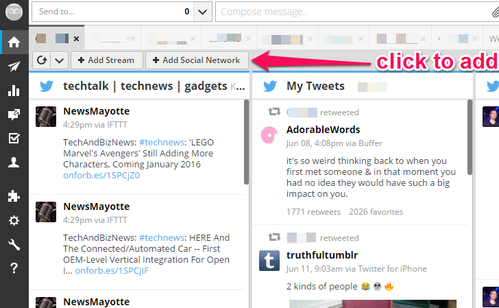 How to add instagram to hootsuite in 5 steps the kohl press hootsuite dashboard adding instagram ccuart Choice Image