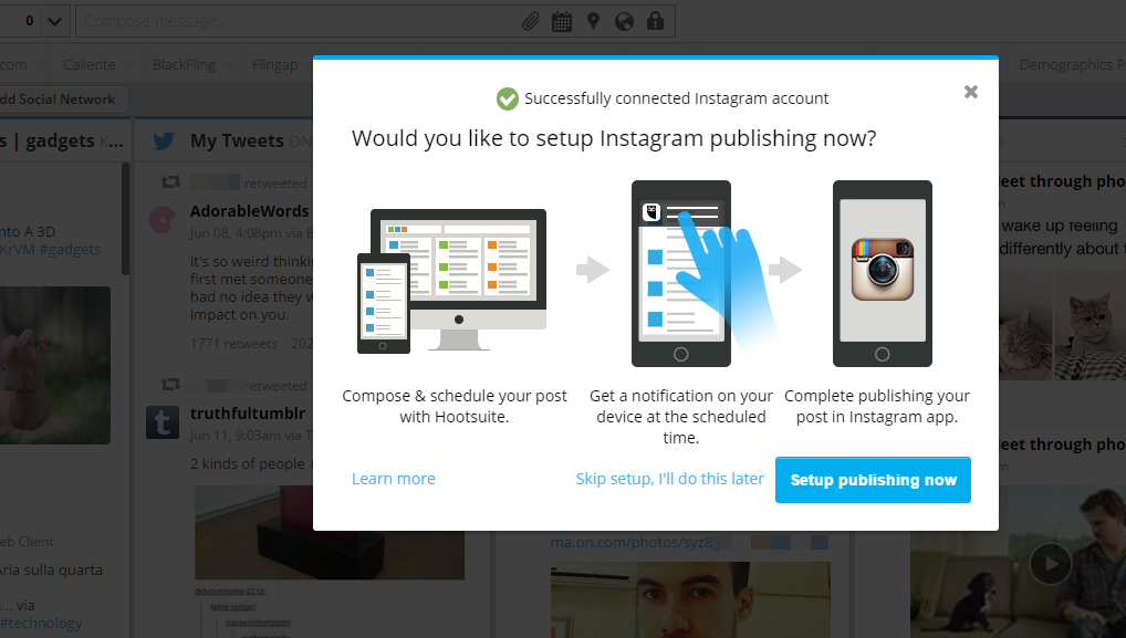 How to add instagram to hootsuite in 5 steps the kohl press instagram publishing in hootsuite ccuart Choice Image